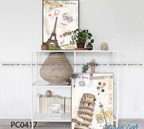 Bo tranh Canvas treo tuong trang tri phong khach phong canh PC0417