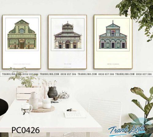 Bo tranh Canvas treo tuong trang tri phong khach phong canh PC0426