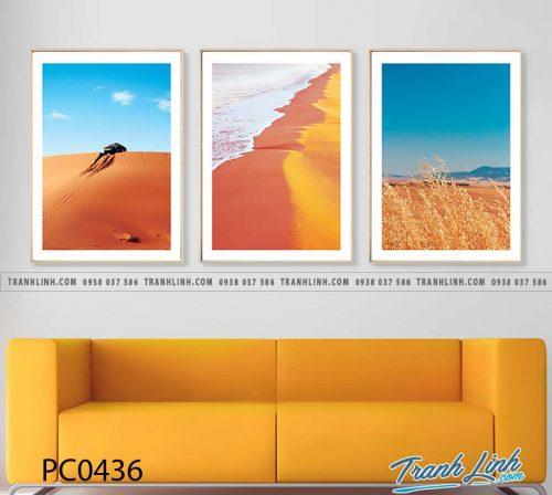 Bo tranh Canvas treo tuong trang tri phong khach phong canh PC0436