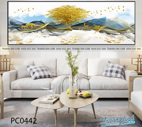 Bo tranh Canvas treo tuong trang tri phong khach phong canh PC0442