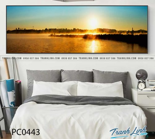 Bo tranh Canvas treo tuong trang tri phong khach phong canh PC0443