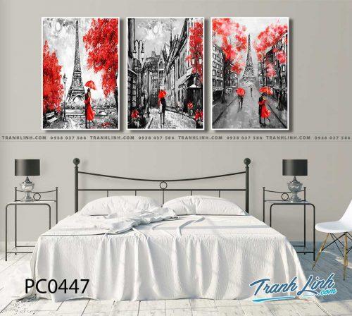 Bo tranh Canvas treo tuong trang tri phong khach phong canh PC0447