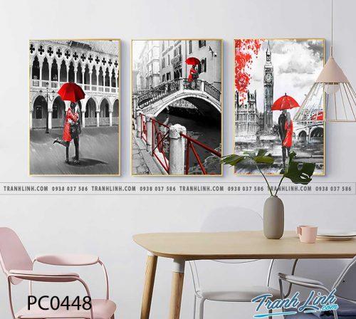 Bo tranh Canvas treo tuong trang tri phong khach phong canh PC0448
