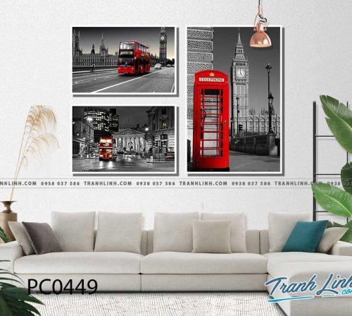 Bo tranh Canvas treo tuong trang tri phong khach phong canh PC0449
