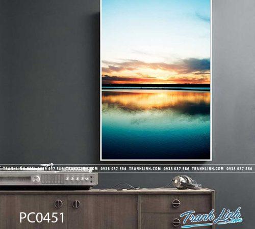 Bo tranh Canvas treo tuong trang tri phong khach phong canh PC0451