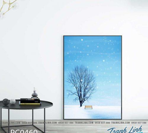 Bo tranh Canvas treo tuong trang tri phong khach phong canh PC0460