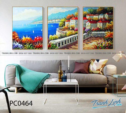 Bo tranh Canvas treo tuong trang tri phong khach phong canh PC0464