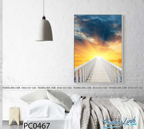 Bo tranh Canvas treo tuong trang tri phong khach phong canh PC0467