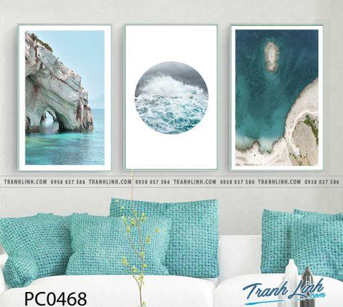 Bo tranh Canvas treo tuong trang tri phong khach phong canh PC0468