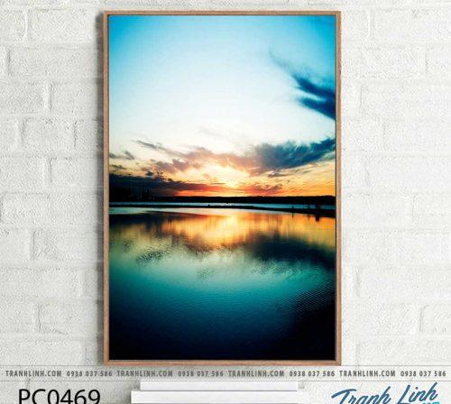 Bo tranh Canvas treo tuong trang tri phong khach phong canh PC0469