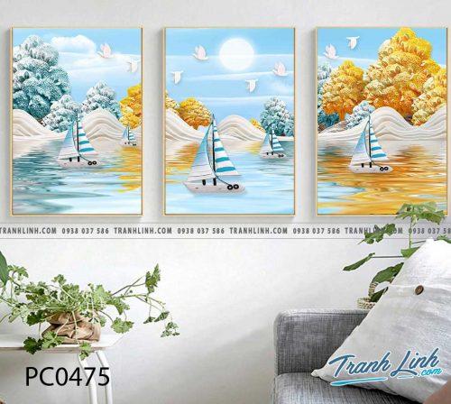 Bo tranh Canvas treo tuong trang tri phong khach phong canh PC0475