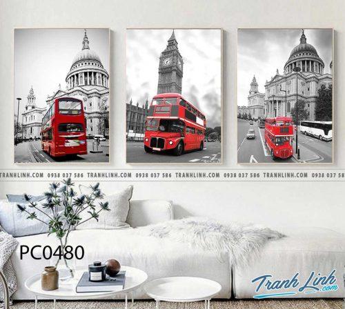 Bo tranh Canvas treo tuong trang tri phong khach phong canh PC0480
