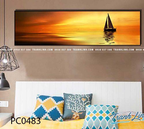 Bo tranh Canvas treo tuong trang tri phong khach phong canh PC0483