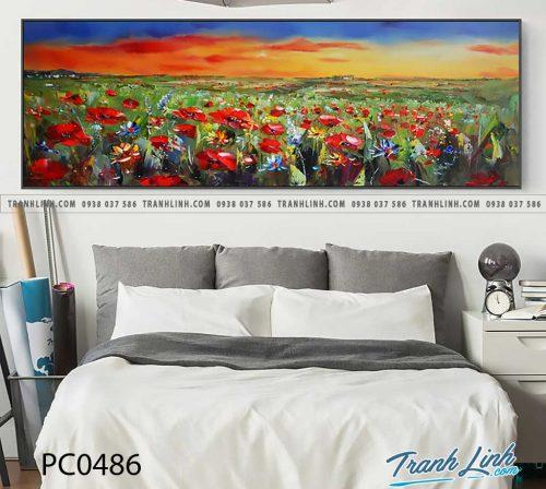 Bo tranh Canvas treo tuong trang tri phong khach phong canh PC0486
