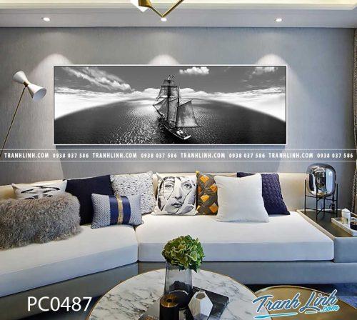 Bo tranh Canvas treo tuong trang tri phong khach phong canh PC0487