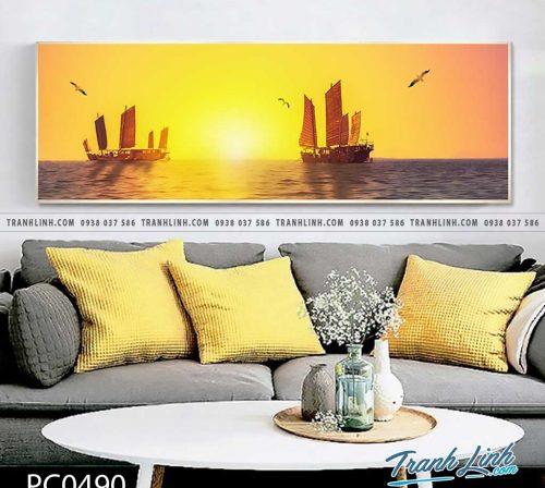Bo tranh Canvas treo tuong trang tri phong khach phong canh PC0490