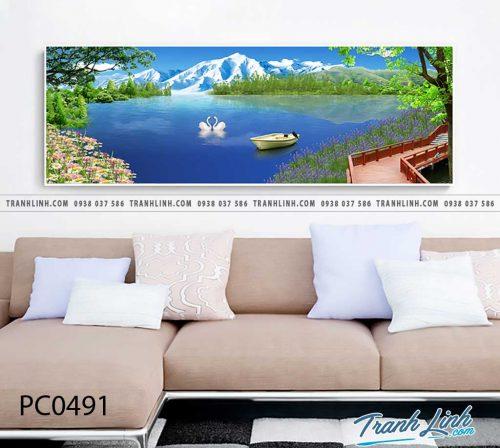 Bo tranh Canvas treo tuong trang tri phong khach phong canh PC0491