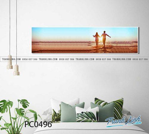 Bo tranh Canvas treo tuong trang tri phong khach phong canh PC0496