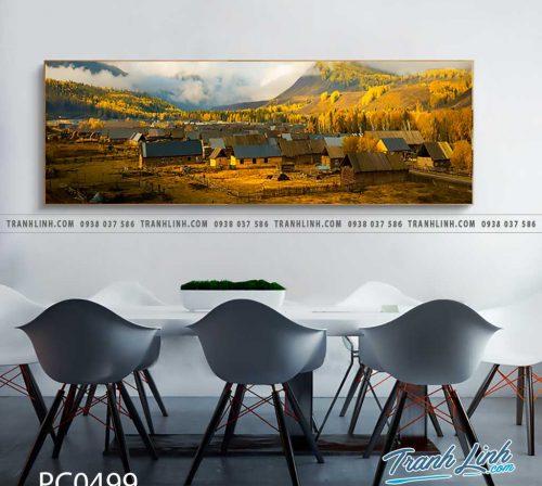 Bo tranh Canvas treo tuong trang tri phong khach phong canh PC0499