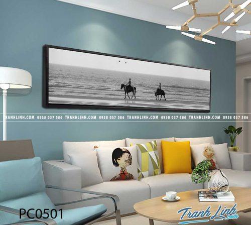 Bo tranh Canvas treo tuong trang tri phong khach phong canh PC0501