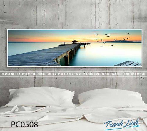 Bo tranh Canvas treo tuong trang tri phong khach phong canh PC0508