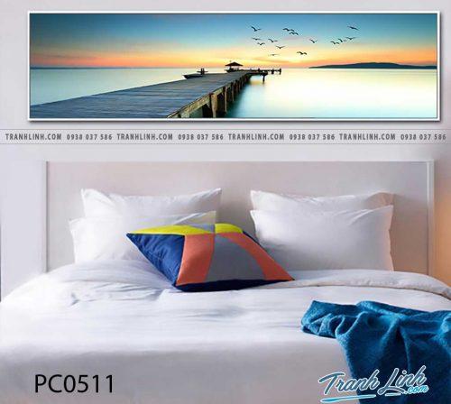 Bo tranh Canvas treo tuong trang tri phong khach phong canh PC0511