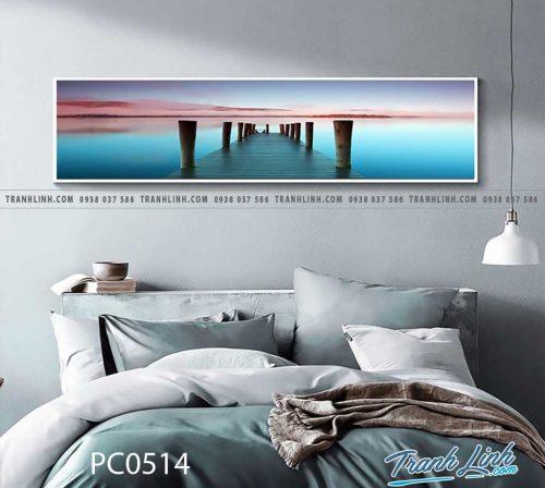 Bo tranh Canvas treo tuong trang tri phong khach phong canh PC0514