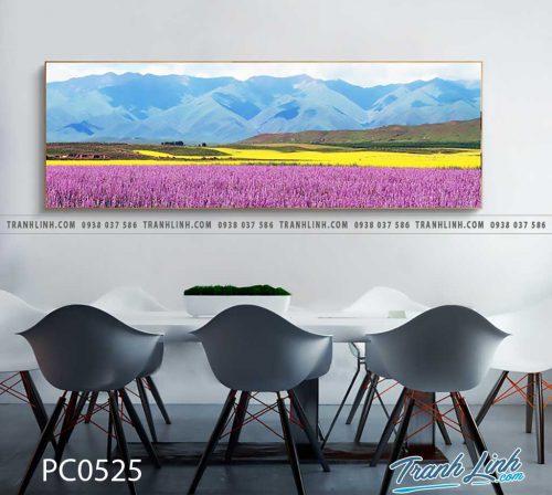 Bo tranh Canvas treo tuong trang tri phong khach phong canh PC0525