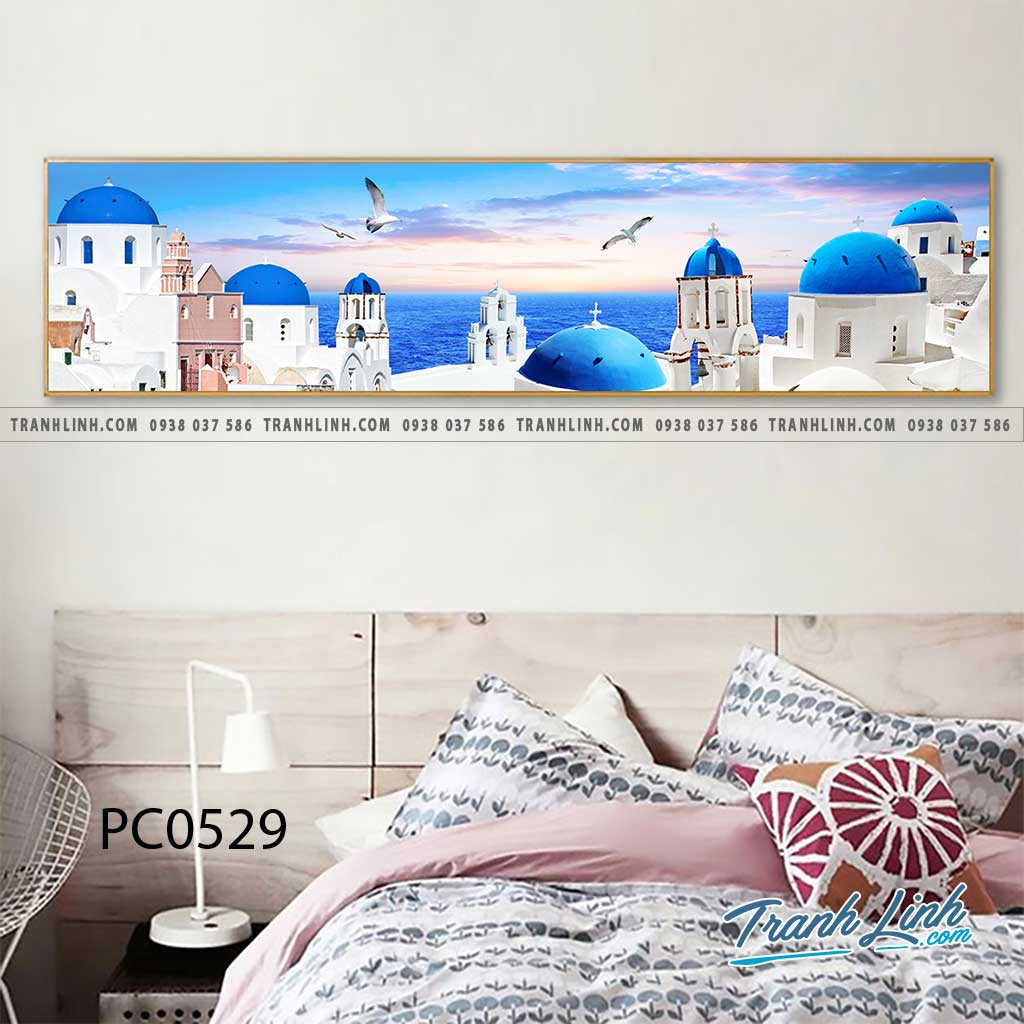 Bo tranh Canvas treo tuong trang tri phong khach phong canh PC0529
