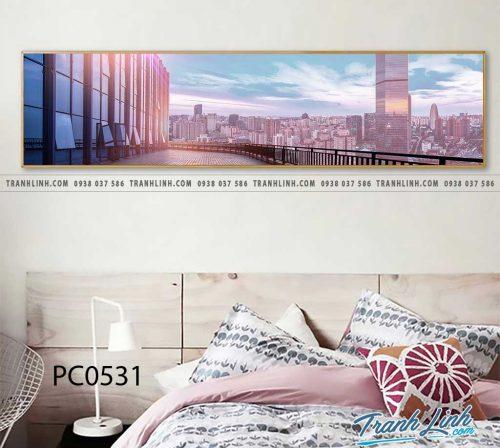 Bo tranh Canvas treo tuong trang tri phong khach phong canh PC0531