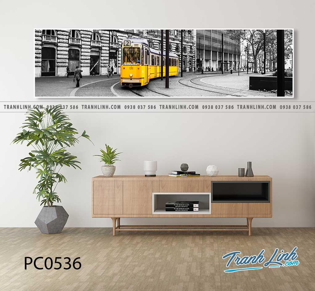 Bo tranh Canvas treo tuong trang tri phong khach phong canh PC0536