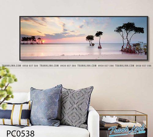 Bo tranh Canvas treo tuong trang tri phong khach phong canh PC0538
