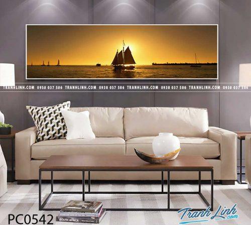 Bo tranh Canvas treo tuong trang tri phong khach phong canh PC0542