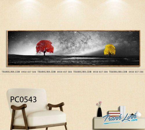Bo tranh Canvas treo tuong trang tri phong khach phong canh PC0543