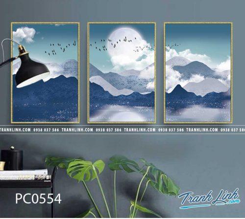 Bo tranh Canvas treo tuong trang tri phong khach phong canh PC0554