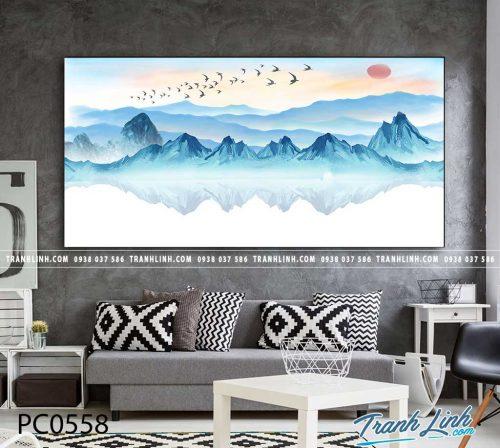 Bo tranh Canvas treo tuong trang tri phong khach phong canh PC0558