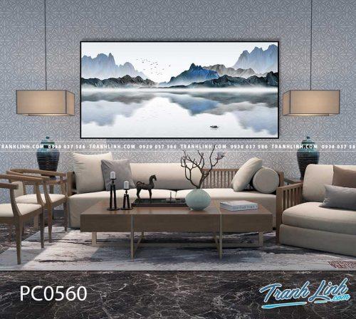 Bo tranh Canvas treo tuong trang tri phong khach phong canh PC0560