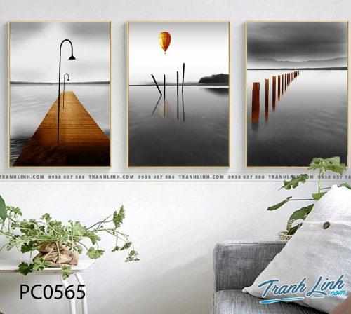 Bo tranh Canvas treo tuong trang tri phong khach phong canh PC0565
