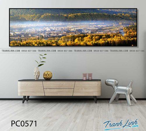 Bo tranh Canvas treo tuong trang tri phong khach phong canh PC0571