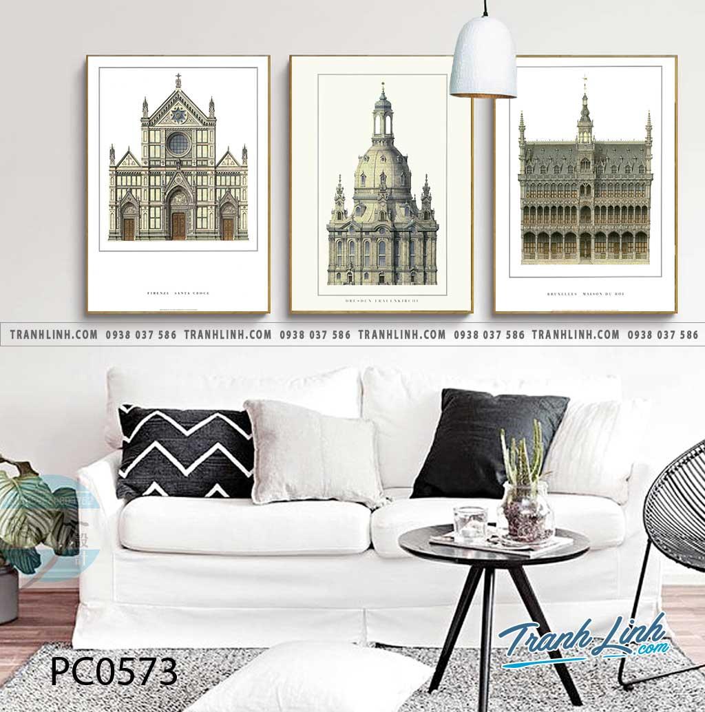 Bo tranh Canvas treo tuong trang tri phong khach phong canh PC0573