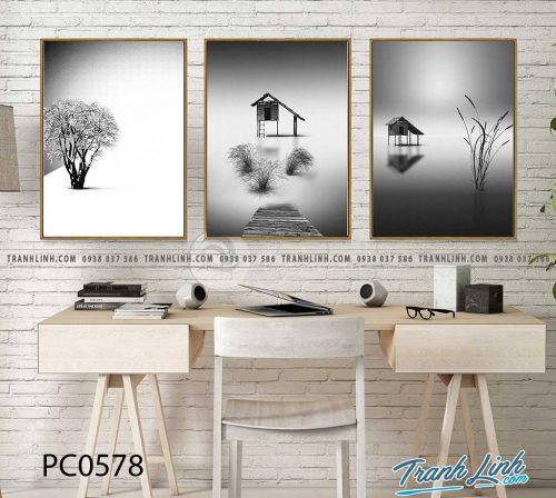 Bo tranh Canvas treo tuong trang tri phong khach phong canh PC0578