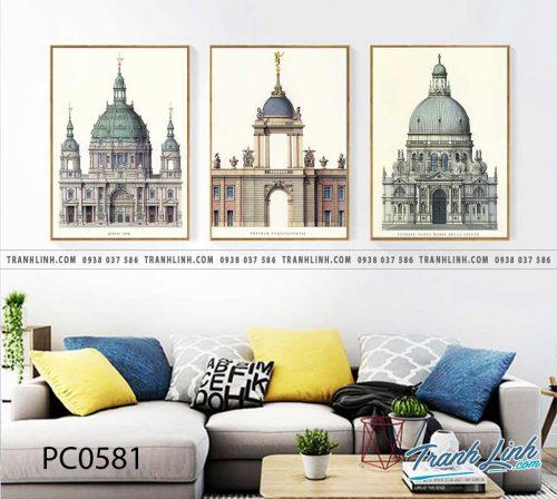Bo tranh Canvas treo tuong trang tri phong khach phong canh PC0581
