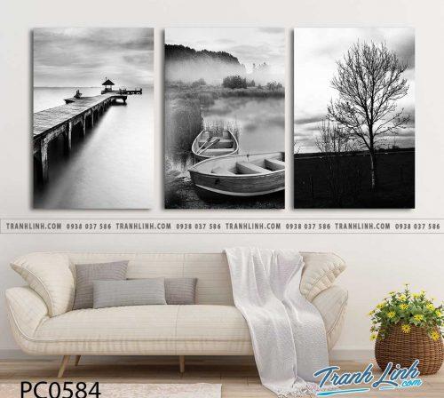Bo tranh Canvas treo tuong trang tri phong khach phong canh PC0584