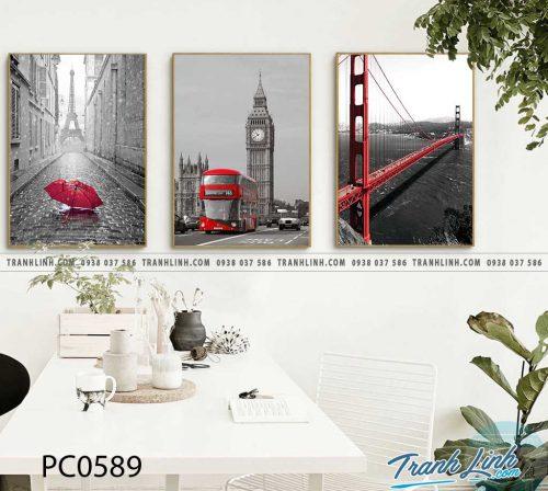 Bo tranh Canvas treo tuong trang tri phong khach phong canh PC0589