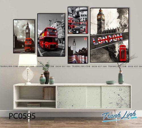 Bo tranh Canvas treo tuong trang tri phong khach phong canh PC0595