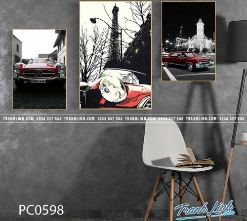 Bo tranh Canvas treo tuong trang tri phong khach phong canh PC0598