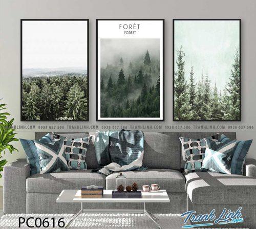 Bo tranh Canvas treo tuong trang tri phong khach phong canh PC0616