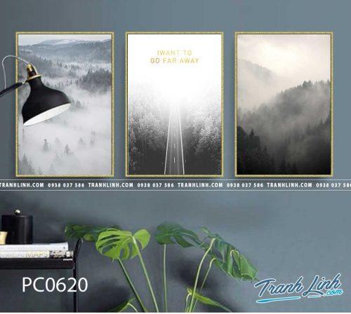 Bo tranh Canvas treo tuong trang tri phong khach phong canh PC0620