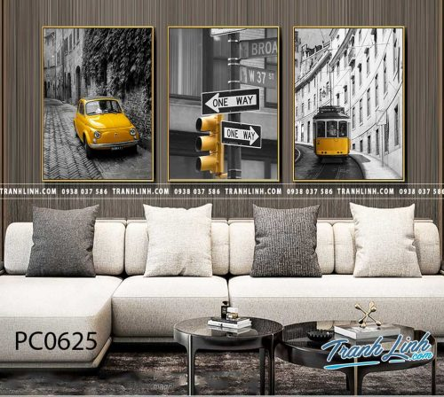 Bo tranh Canvas treo tuong trang tri phong khach phong canh PC0625
