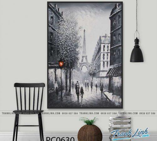 Bo tranh Canvas treo tuong trang tri phong khach phong canh PC0630